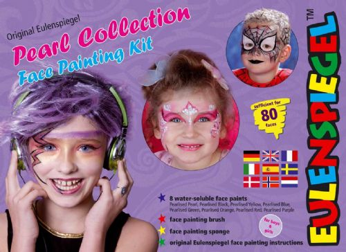 8 Colour Palette Pearlised Makeup Make-Up Face Paint Boxed (English)